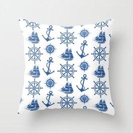 Ships Anchor Beach House Throw Pillow