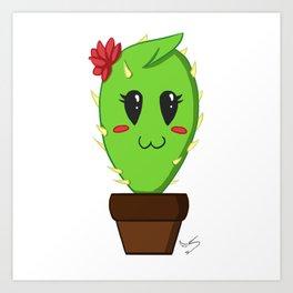 Unfortunate relationship: cute cactus black symbol Art Print