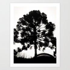 Black Tree  Art Print