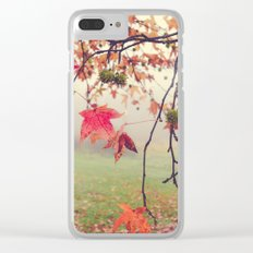 Autumn Dreams Clear iPhone Case