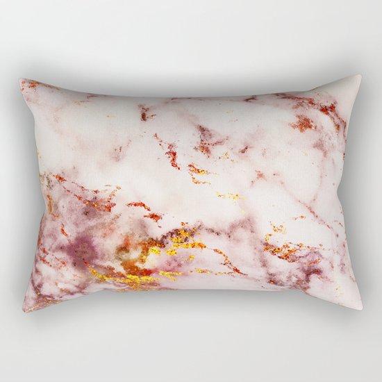Marble Effect #4 Rectangular Pillow