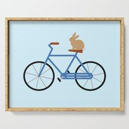 Bunny Riding Bike Serving Tray