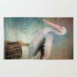 Perched Pelican Rug