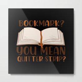 Book Notebook Office Bookworm Study Metal Print