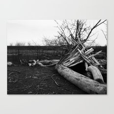 Driftwood Teepee Canvas Print