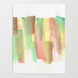 [161228] 21. Abstract Watercolour Color Study |Watercolor Brush Stroke Poster