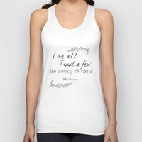 shakespeare Tank Tops featuring Shakespeare Quote by Pati Designs & Photography