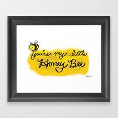 My Little Honey Bee Framed Art Print