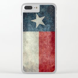 State flag of Texas, Lone Star Flag of the Lone Star State Clear iPhone Case