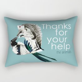 Thank for your help (GREFA) Rectangular Pillow