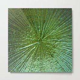 Emerald Ripple Metal Print
