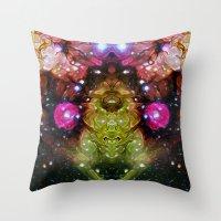 interstellar Throw Pillows featuring Interstellar by Mark Kriegh