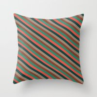 preppy Throw Pillows featuring Preppy by Farnell