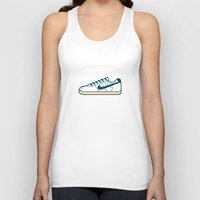 nike Tank Tops featuring #55 Nike Cortez by Brownjames Prints
