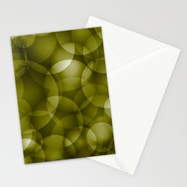 Dark intersecting translucent olive circles in bright colors with an oily glow. Stationery Cards
