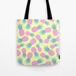 Pink pastel pineapple Tote Bag
