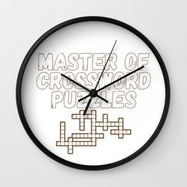 Master of Crossword Puzzles Fun Puzzle Lover Gift Wall Clock