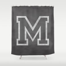 Letter M Shower Curtain