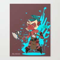 dota Canvas Prints featuring Troll Warlord by Angxix