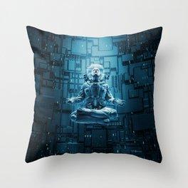 Astro Lotus Throw Pillow