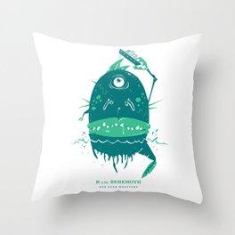 B is for Behemoth Throw Pillow