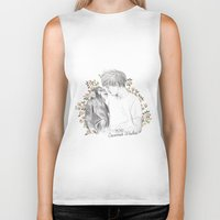 coconutwishes Biker Tanks featuring Louis and the chimp by Coconut Wishes
