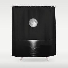 Moon Horizon 105 Black Sky Shower Curtain