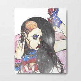 American Girl Metal Print