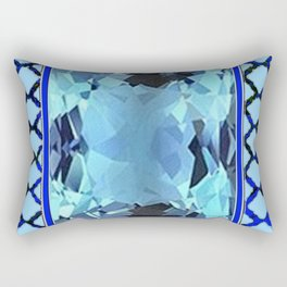 AQUAMARINE MARCH GEM BIRTHSTONE MODERN ART Rectangular Pillow