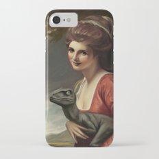 Lady Hamilton with velociraptor  Slim Case iPhone 7