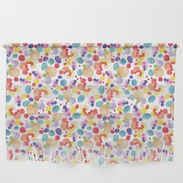 Rainbow Watercolor Circles Wall Hanging