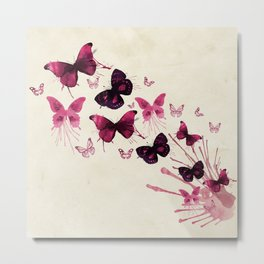 Butterflies Watercolor Metal Print