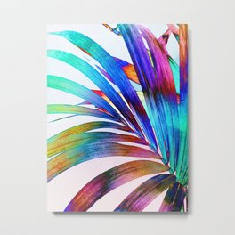Multicolor Palm Leaf Metal Print