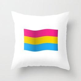 Pansexual Pride Flag Gender-Blind LGBT Bisexual Pan Cool Humor Design Pun Gift Throw Pillow