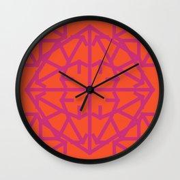 Diamond Bug Pink Yarrow - Flame Wall Clock