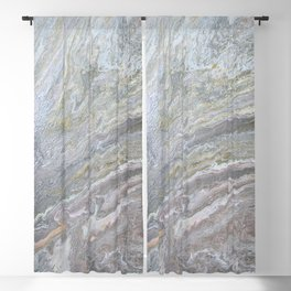 Gold, White, Grey, and Pink Blackout Curtain