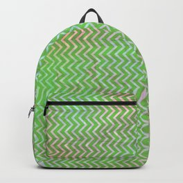 Green Flash chevron with texture Backpack