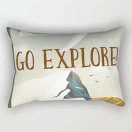 Go Explore! Rectangular Pillow