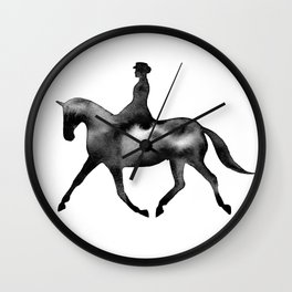 Dressage Horse Silhouettes Wall Clock