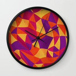 Psycadelic Abstraction Wall Clock