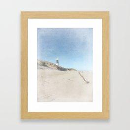 Spurn Point Lighthouse | Texture Framed Art Print