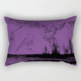 Knik River Mts. Pop Art - 2 Rectangular Pillow