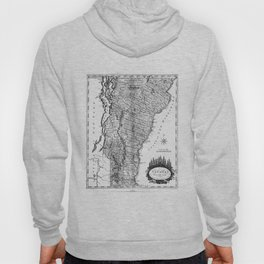 Vintage Map of Vermont (1814) BW Hoody