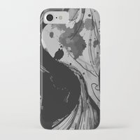 reassurance iPhone & iPod Cases featuring Ink III by Magdalena Hristova