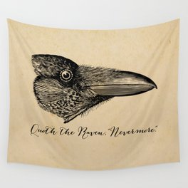 Nevermore - Edgar Allan Poe - Quoth the Raven Wall Tapestry