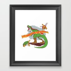 When Dinosaurs ruled the earth Framed Art Print