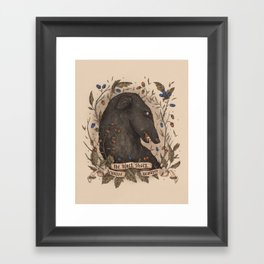Beware, the Black Shuck Framed Art Print