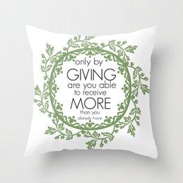 Giving Throw Pillow