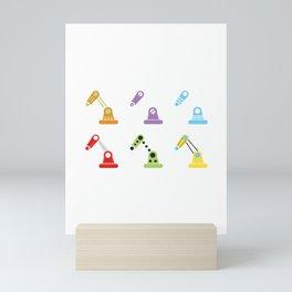 Working Robots Mini Art Print