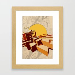 Boiled Eggs and Arabesques Framed Art Print